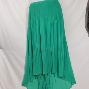NWT Teal Lauren Conrad High Low Skirt Size L